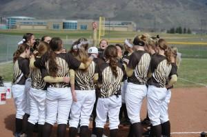 Girls softball team starting the season off for 2013.Photo credits to Davis High photo club.